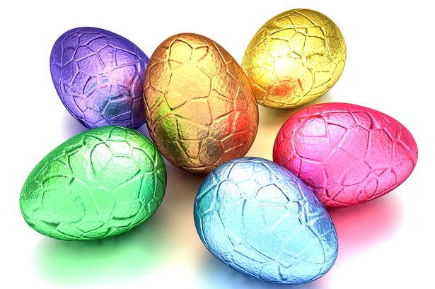 Easter eggs with coloured packaging 2